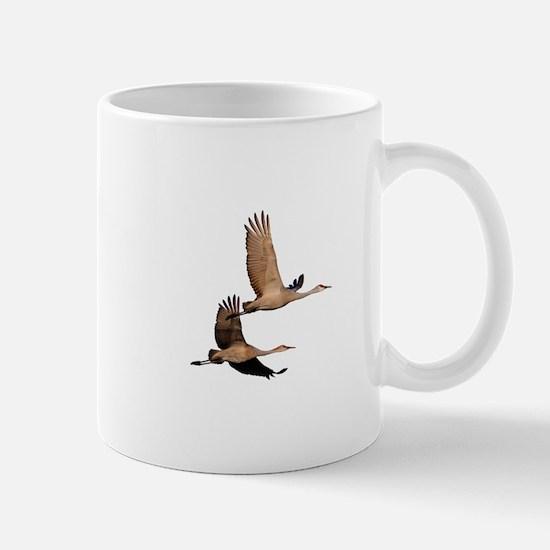 Sandhill Couple in Flight Mug