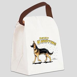 German Shepherd Hairifying Canvas Lunch Bag