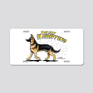 German Shepherd Hairifying Aluminum License Plate