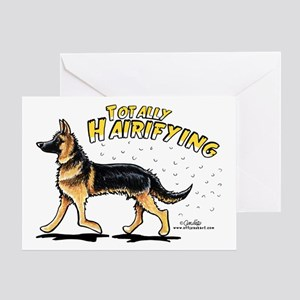 German Shepherd Hairifying Greeting Card
