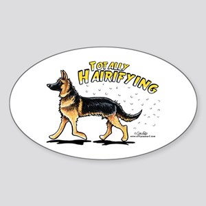 German Shepherd Hairifying Sticker (Oval)