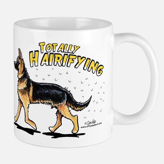 German Shepherd Hairifying Mug