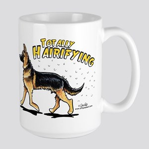 German Shepherd Hairifying Large Mug
