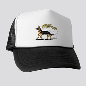 German Shepherd Hairifying Trucker Hat