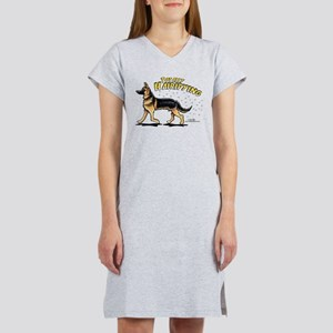 German Shepherd Hairifying Women's Nightshirt