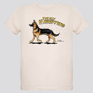 German Shepherd Hairifying Organic Kids T-Shirt