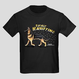 German Shepherd Hairifying Kids Dark T-Shirt