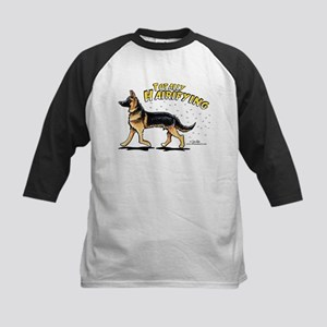 German Shepherd Hairifying Kids Baseball Jersey