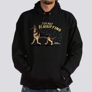 German Shepherd Hairifying Hoodie (dark)