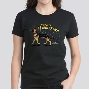 German Shepherd Hairifying Women's Dark T-Shirt
