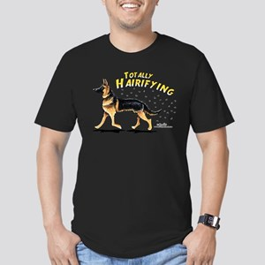 German Shepherd Hairifying Men's Fitted T-Shirt (d
