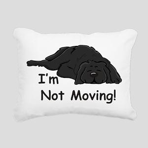 Newfie Carpet Rectangular Canvas Pillow