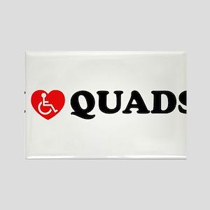 I Heart Quads Rectangle Magnet