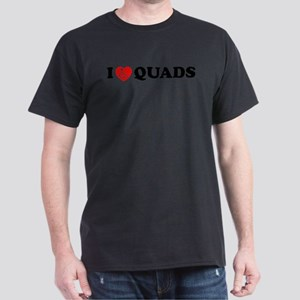 I Heart Quads Dark T-Shirt