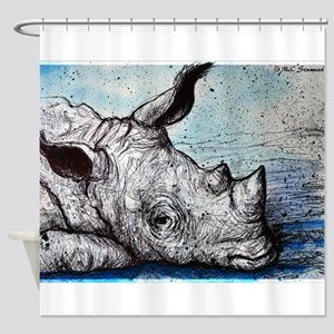 Rhino! Wildlife art! Shower Curtain