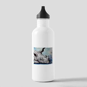 Rhino! Wildlife art! Stainless Water Bottle 1.0L