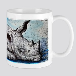 Rhino! Wildlife art! Mug