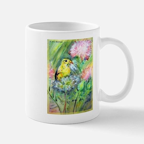 Gold finch! Bird art! Mug