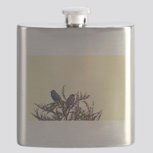 Pair of Starling Birds Flask