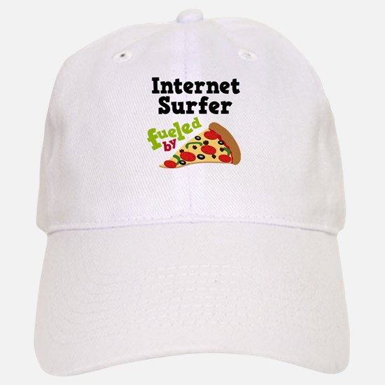 Internet Surfer Fueled By Pizza Baseball Baseball Cap