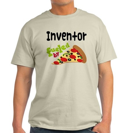 Inventor Fueled By Pizza Light T-Shirt