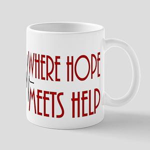 Pregnancy Helpline Where Hope Meets Help Mug