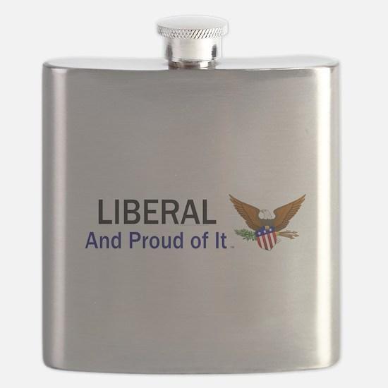 Liberal Slogan Flask