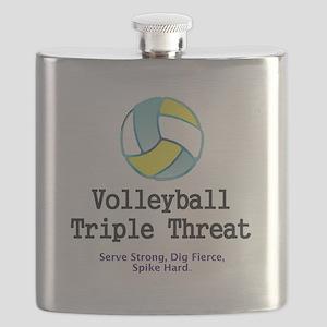 Volleyball Slogan Flask