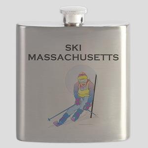 Ski Massachusetts Flask