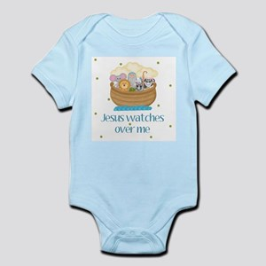 Jesus watches over me Baby Body Suit