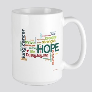 Lung Cancer Word Art (lt) Large Mug