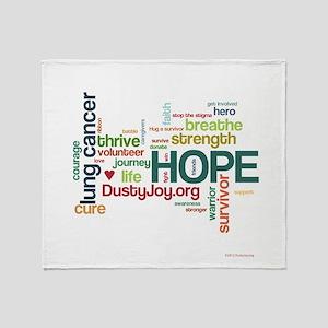Lung Cancer Word Art (lt) Throw Blanket