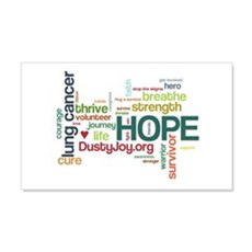 Lung Cancer Word Art (lt) Wall Decal