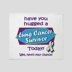 Hug a Survivor! Throw Blanket