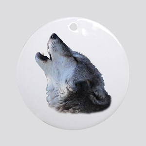 wolf howling Ornament (Round)