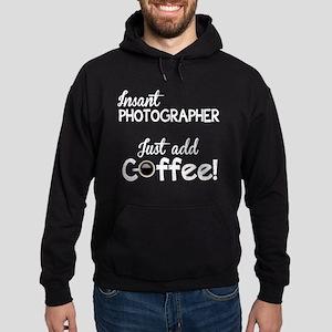 Instant Photographer, Add Coffee Hoodie (dark)