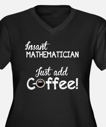 Instant Mathematician, Funny, Women's Plus Size V-