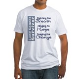 Lung cancer survivor Fitted Light T-Shirts