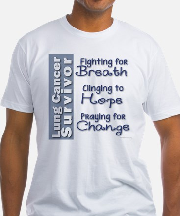 Breathe-Hope-Change Lung Cancer Survivor Shirt