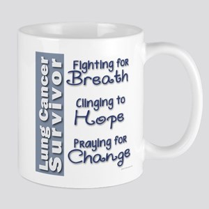 Breathe-Hope-Change Lung Cancer Survivor Mug