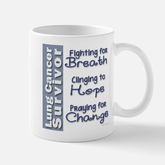 Breathe-Hope-Change Lung Cancer Survivor Mug
