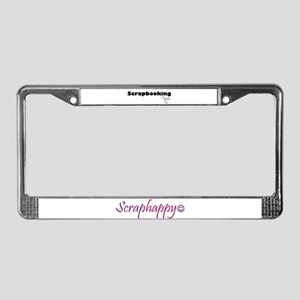 Scraphappy License Plate Frame