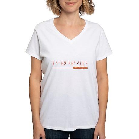 """Learn Braille"" Ladies T Shirt T-Shirt"