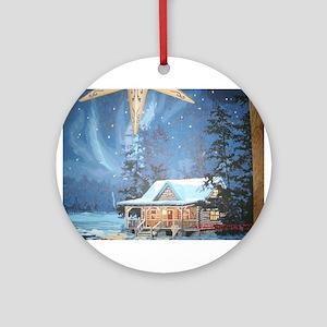 Cabin Ornament (Round)
