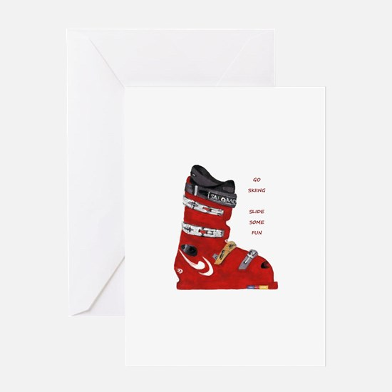 ski boot Greeting Card