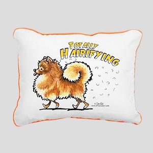 Pomeranian Hairifying Rectangular Canvas Pillow