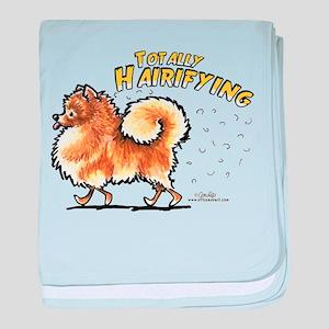Pomeranian Hairifying baby blanket