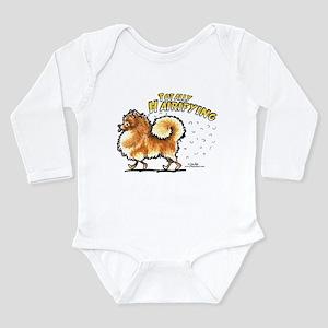 Pomeranian Hairifying Long Sleeve Infant Bodysuit