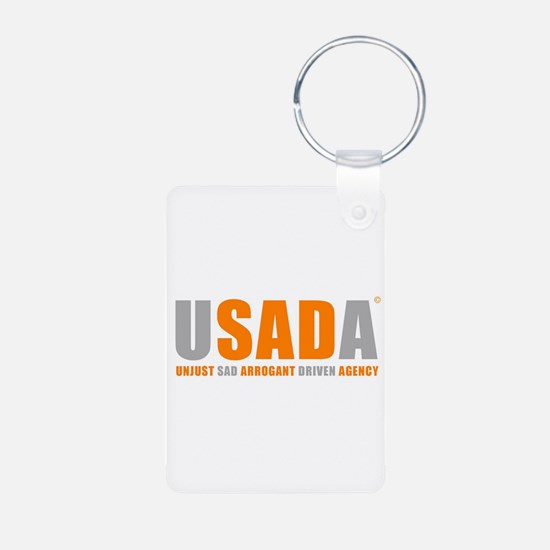 USADA UNJUST Keychains