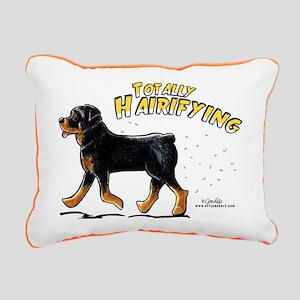 Rottweiler Hairifying Rectangular Canvas Pillow